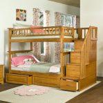 Tempat Tidur Anak Tingkat Minimalis Tangga Laci Klasik