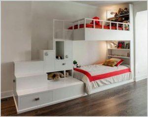 Tempat Tidur Anak Tingkat Minimalis Tangga Laci