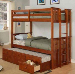 Tempat Tidur Anak Tingkat Minimalis Pagar Sorong